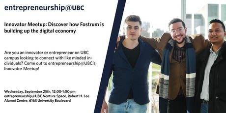 entrepreneurship@UBC Innovator Meetup tickets