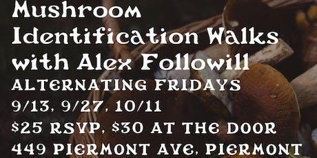 Mushroom Identification Walks with Alex Followill  tickets