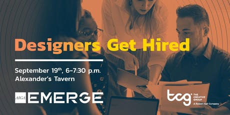 Designers Get Hired: Happy Hour with TCG tickets