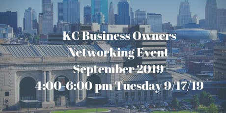 KC Business Owners Networking Event September 2019 tickets