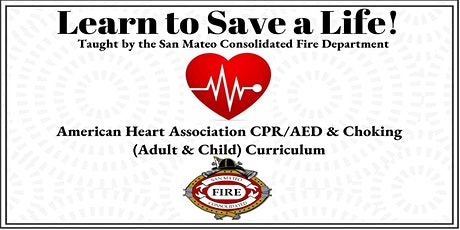 CPR/AED and Choking Class tickets