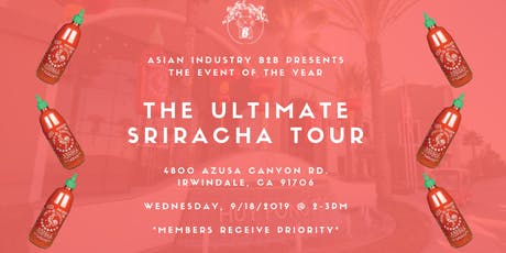 AIB2B Goes to the Ultimate Sriracha Tour tickets