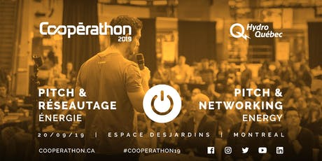 Pitch & Réseautage/Pitch & networking - MTL - Énergie/Energy billets