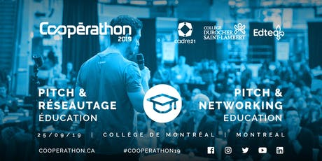 Pitch & Réseautage/Pitch & networking - MTL - Éducation/Education billets