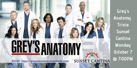 Grey's Anatomy Trivia at Sunset Cantina tickets