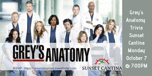 Grey's Anatomy Trivia at Sunset Cantina