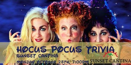 Hocus Pocus Trivia at Sunset Cantina tickets