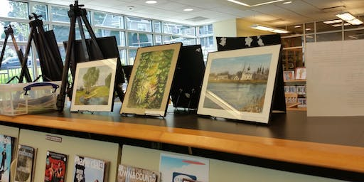 FREE ART EXHIBIT AND RECEPTION AT THE CLIFFSIDE PK LIBRARY
