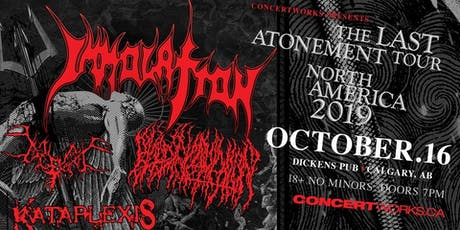 IMMOLATION with BLOOD INCANTATION, BEGRIME & KATAPLEXIS tickets