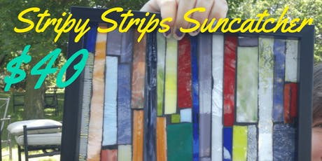Stripy Strips Suncatcher Mosaic tickets