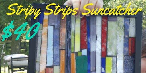 Stripy Strips Suncatcher Mosaic