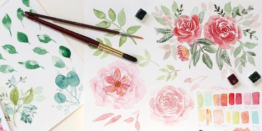 Spring Florals Watercolour Workshop - Adult beginner/intermediate