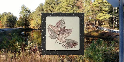 Tangle with Lynne Zentangle® Leaves of Fall Workshop & Wine tasting