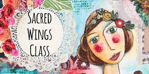 Mixed Media Art Class ~ Sacred Wings ~
