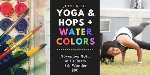 Yoga&Hops + Watercolors at 8th Wonder