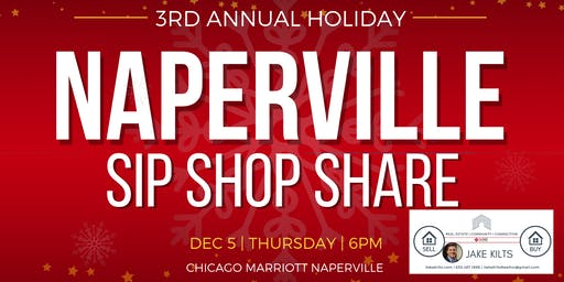 3rd Annual Naperville Holiday Sip, Shop, & Share