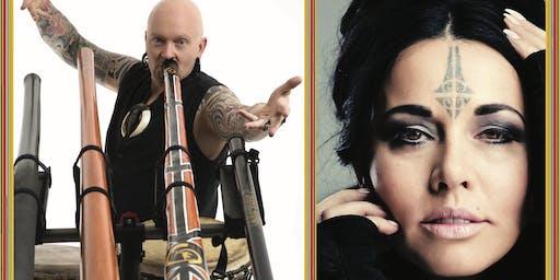 "Didgeridoo Virtuoso Ganga Giri and Mihirangi ""Queen Of Loops"" (KAUAI,HI)"