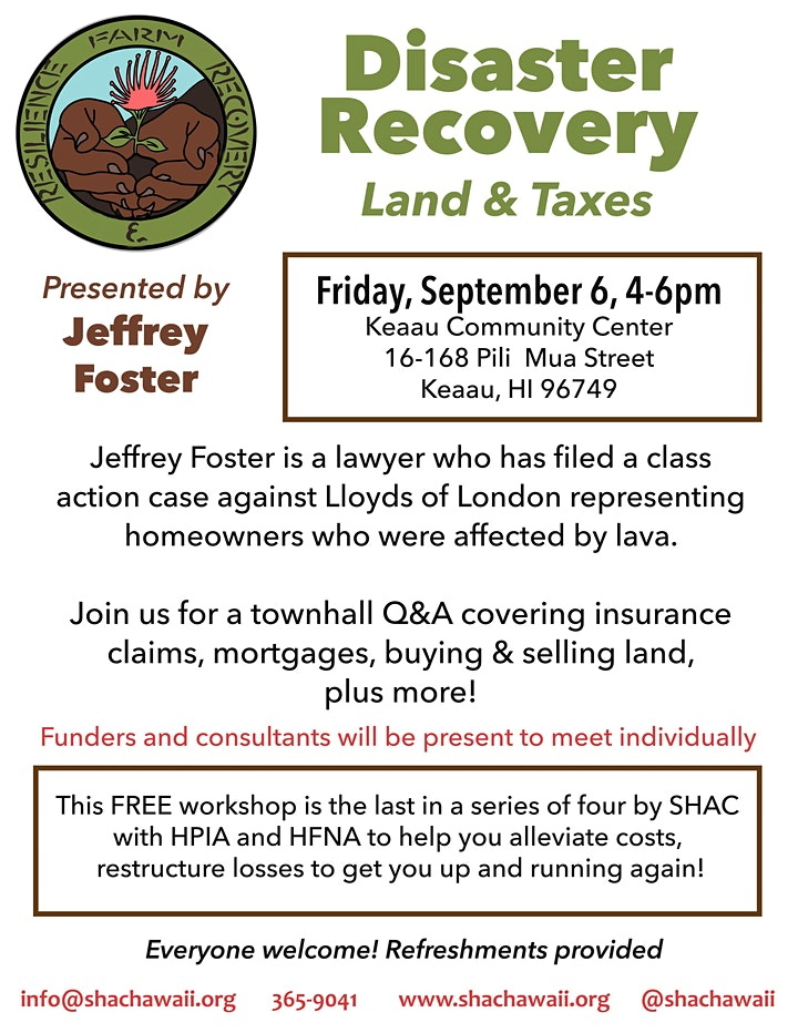 Disaster Recovery: Land & Taxes image