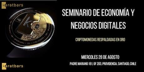 SEMINARIO  DE ECONOMÍA Y NEGOCIOS DIGITALES entradas