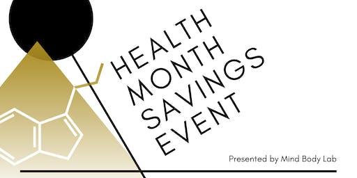 HEALTH MONTH SAVINGS EVENT