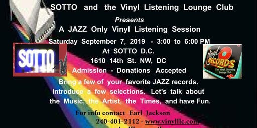 Another  Jazz  Only  Vinyl  Listening  Lounge  Club  Event