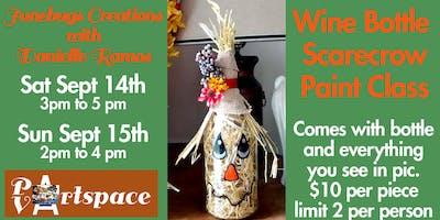 Wine Bottle Scarecrow Paint Class
