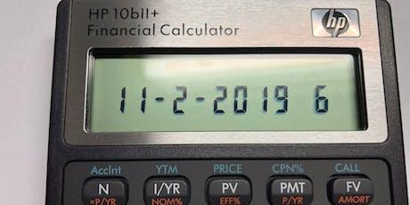 Bill Tan's Financial Calculator Workshop - November 2 in Pasadena tickets