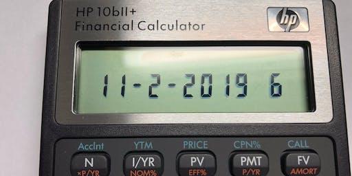 Bill Tan's Financial Calculator Workshop - November 2 in Pasadena