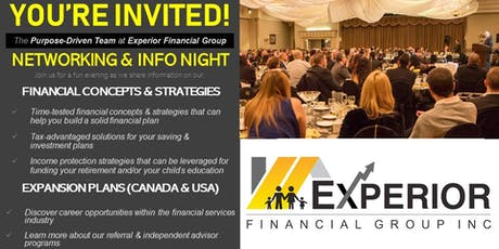 Networking and Info Night for Financial Concepts and Strategies tickets