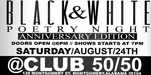 Black and White Poetry Night (Anniversary Show)