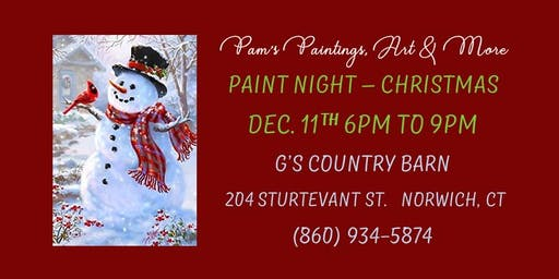 Paint Night - Christmas Cardinal