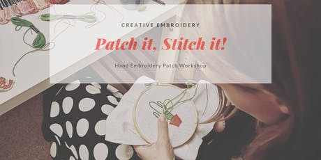 Hand Embroidered Patch Workshop tickets