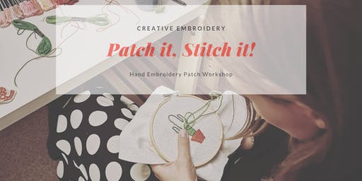 Hand Embroidered Patch Workshop