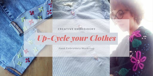 Up-Cycled Fashion Embroidery Workshop Berlin