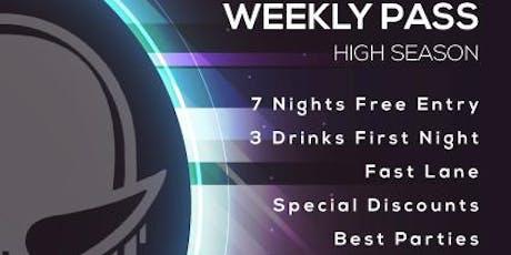 Disco Tropics Weekly Pass (High Season) entradas