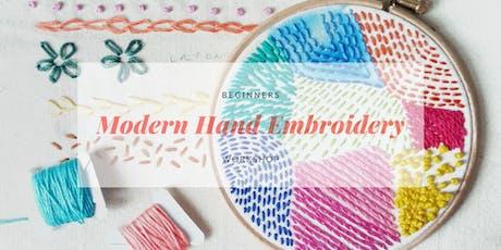 Beginners Modern Embroidery Workshop tickets