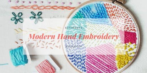 Beginners Modern Embroidery Workshop