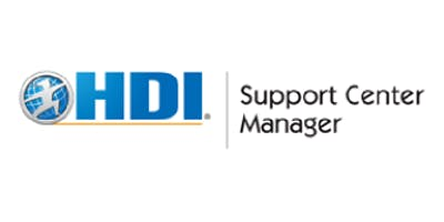 HDI Support Center Manager 3 Days Training in Newcastle