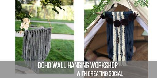 Boho Wall Hanging Workshop - Fall Edition