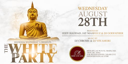 Shanghai Wednesday's at Mon Jin Lau Presents: The White Party
