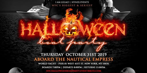 Halloween New York 2019.New York City Halloween Boat Party 2019 Tickets Thu Oct 31 2019