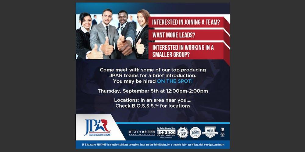 JP & Associates Realtors® Speed Dating: TEAM LEADER Sign Up