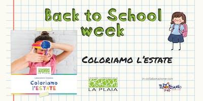 Coloriamo l'Estate - Laboratorio creativo per bambini [Back To School Week]