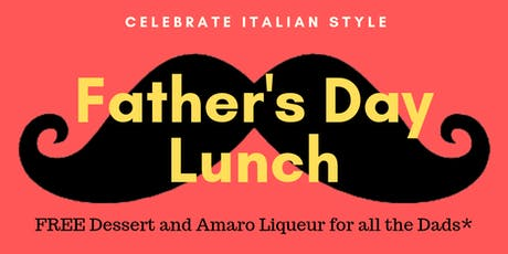 Fathers Day Lunch - BONUS OFFER tickets
