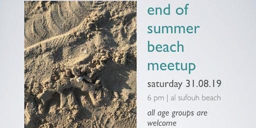 end of summer beach meetup