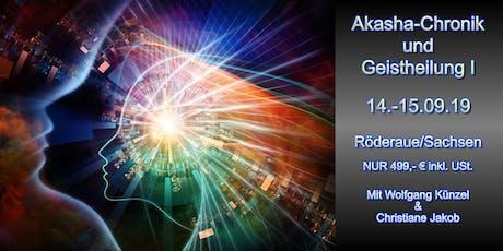 Akasha Chronik lesen und Geistheilung I Tickets