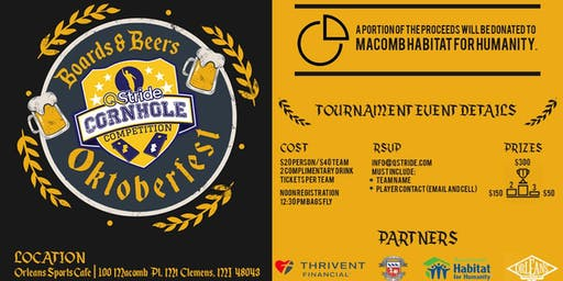 Ocktoberfest Boards & Beers Charity Cornhole Tournament