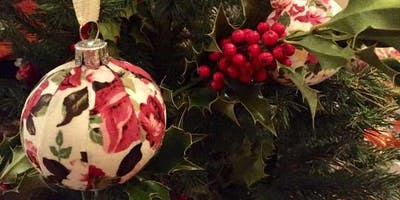 DRINK AND DO: FABRIC DECOUPAGE BAUBLES
