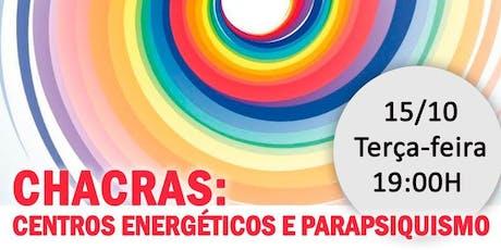 """Palestra na Leitura Américas Shopping: """"Chacras: Centros Energéticos e Parapsiquismo."""" ingressos"""