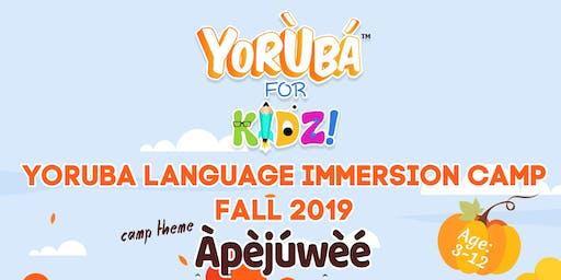 Yoruba Language Immersion Camp for Preshoolers ( Age 3-5)